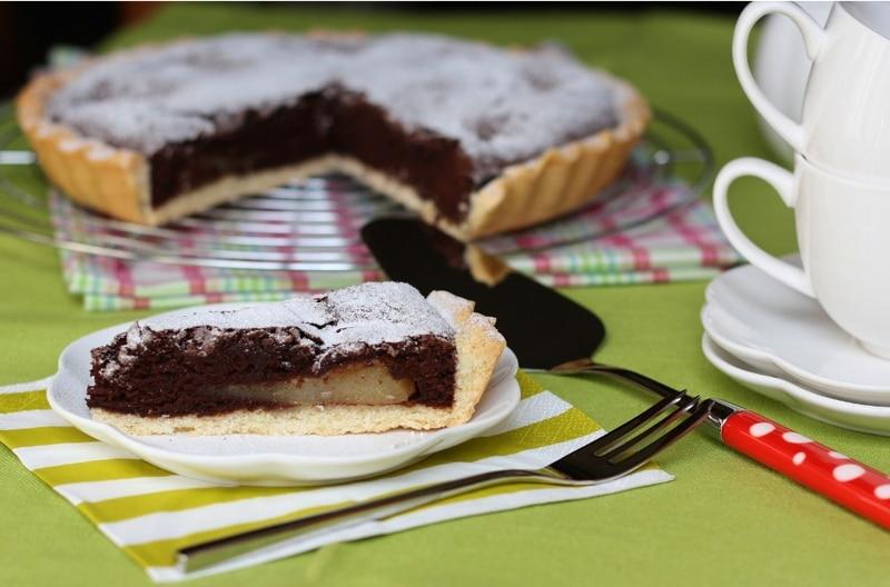 Crostata con pere e cacao