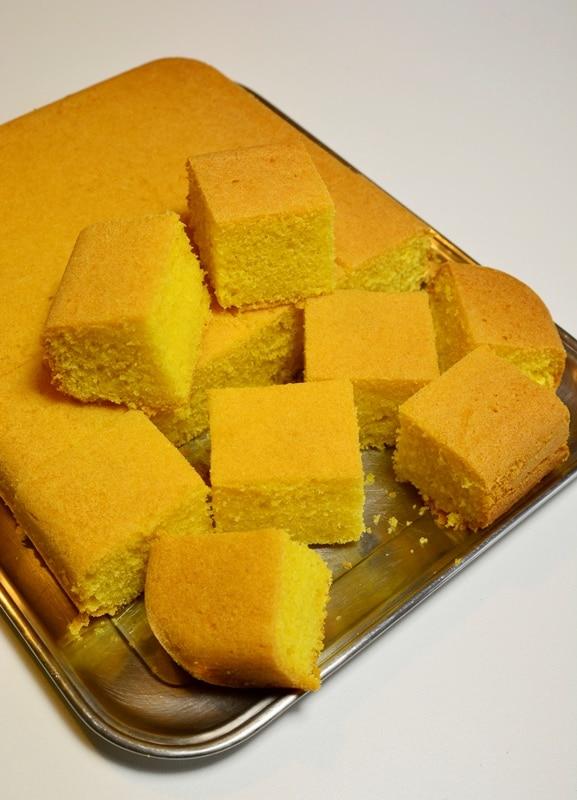 Tagliate la torta in 12 pezzi o secondo la misura desiderata.<br />