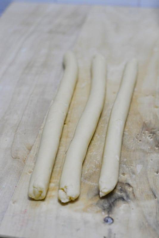 formare dei filoni con la pasta