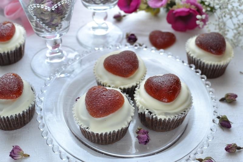 Cupcakes cuori e cioccolato