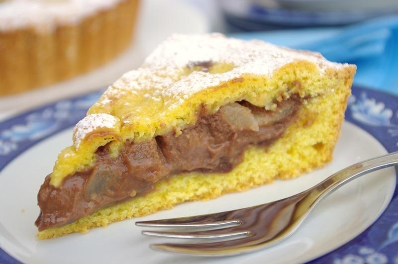Crostata morbida cioccolato e pere