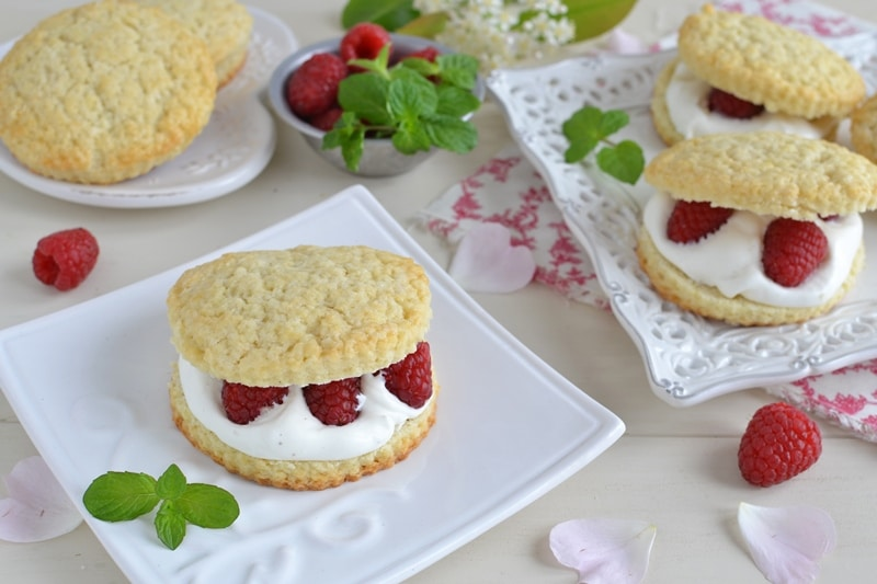 Shortcake panna, mascarpone e lamponi