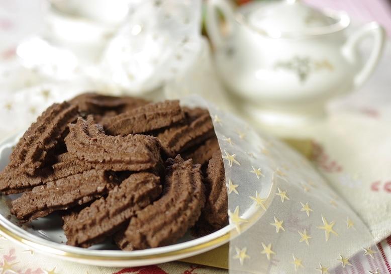 Frollini al cacao per Natale