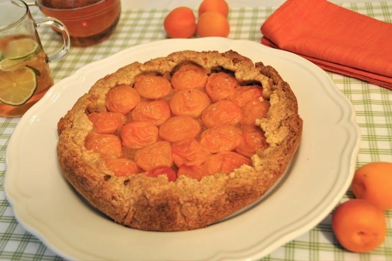 Crostata integrale di albicocche, crostata alla frutta