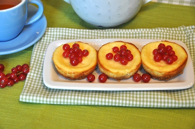 Mini cheesecake al forno