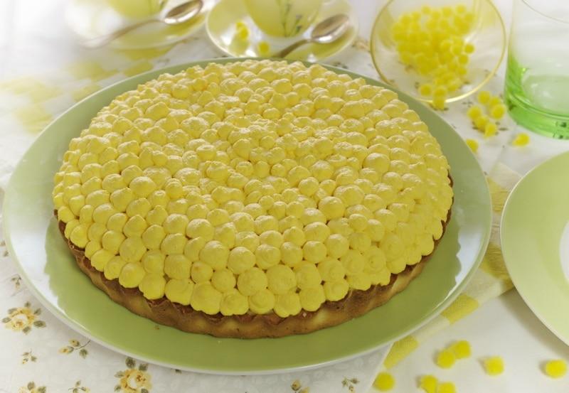 Crostata mimosa al lime