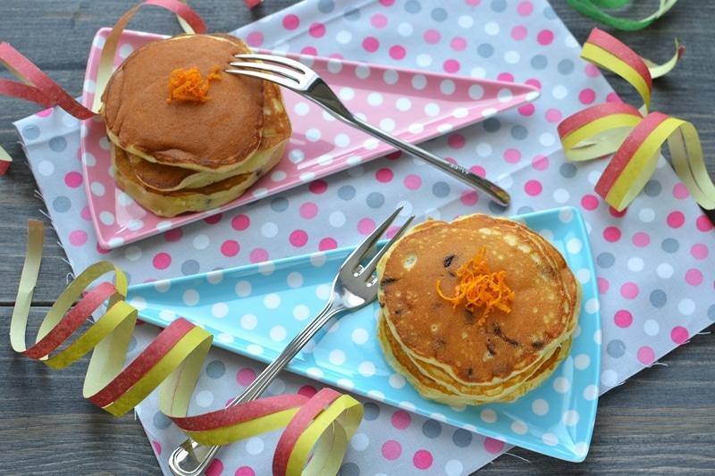 Pancakes ricotta, cioccolato e arancia