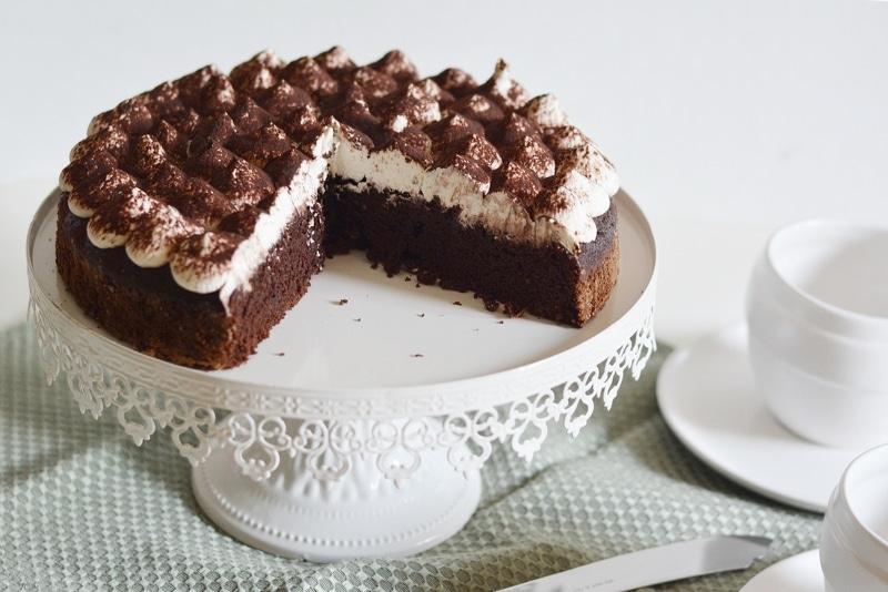 Torta Black&White con crema al mascarpone