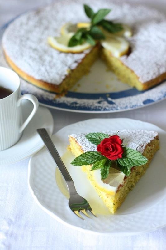 Torta menta limone e mandorle