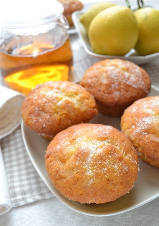 Tortine soffici limone e marzapane
