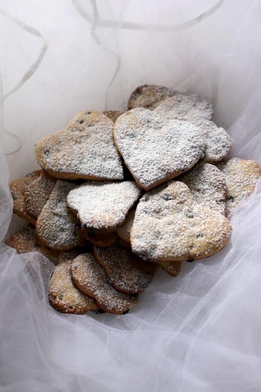 Biscotti piccanti con gocce di cioccolato