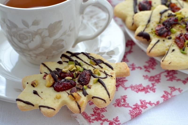 Biscotti pistacchio e mirtilli rossi