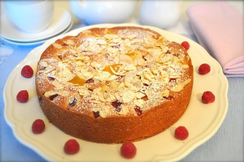Torta Melba Pesche e lamponi