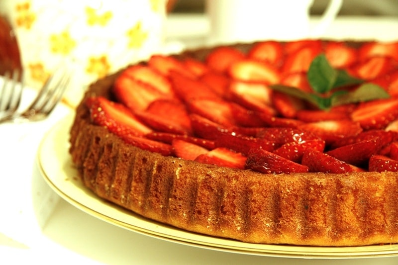 Crostata morbida alle fragole
