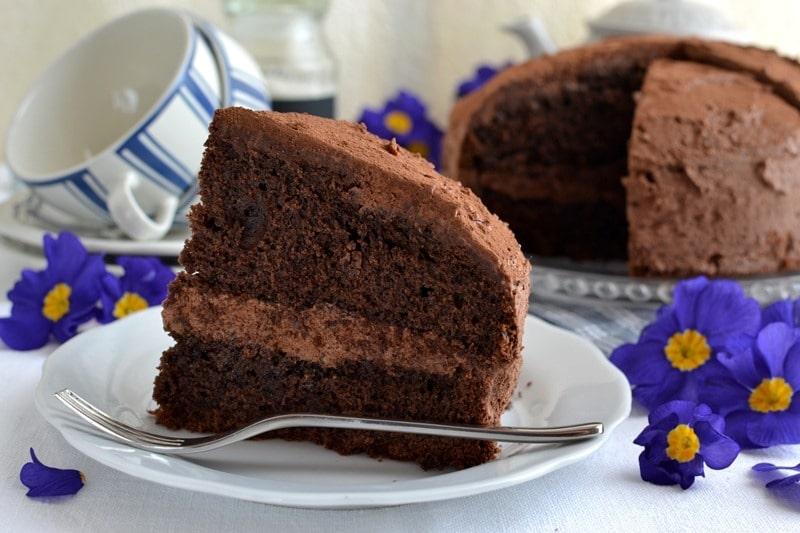 Torta tartufone al cioccolato, caffè e rhum per la festa del papà