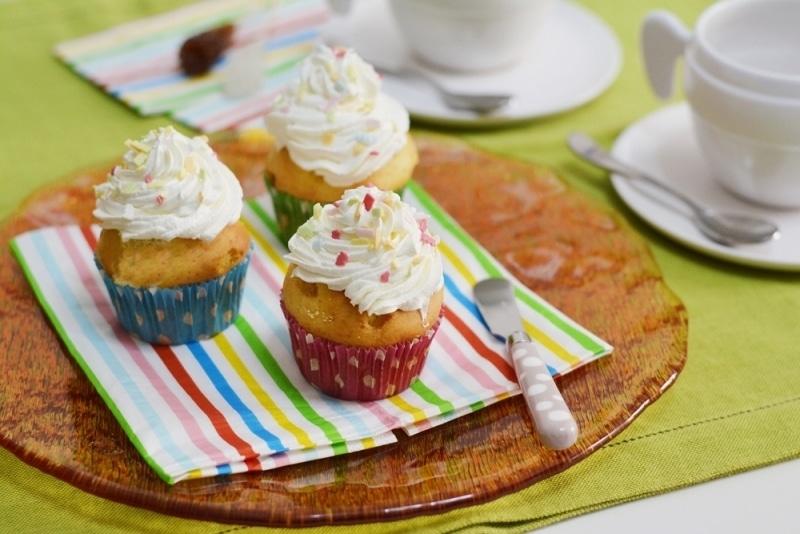 Cupcakes al limone con panna