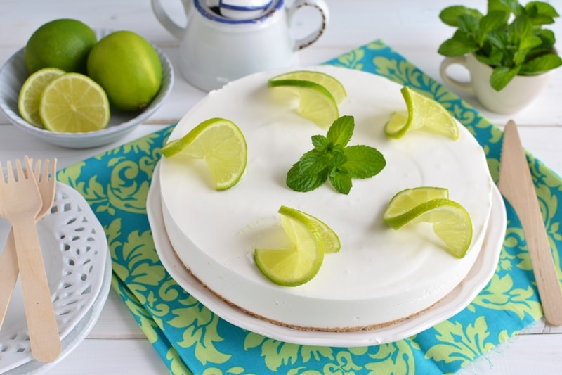 Cheesecake al cocco e lime