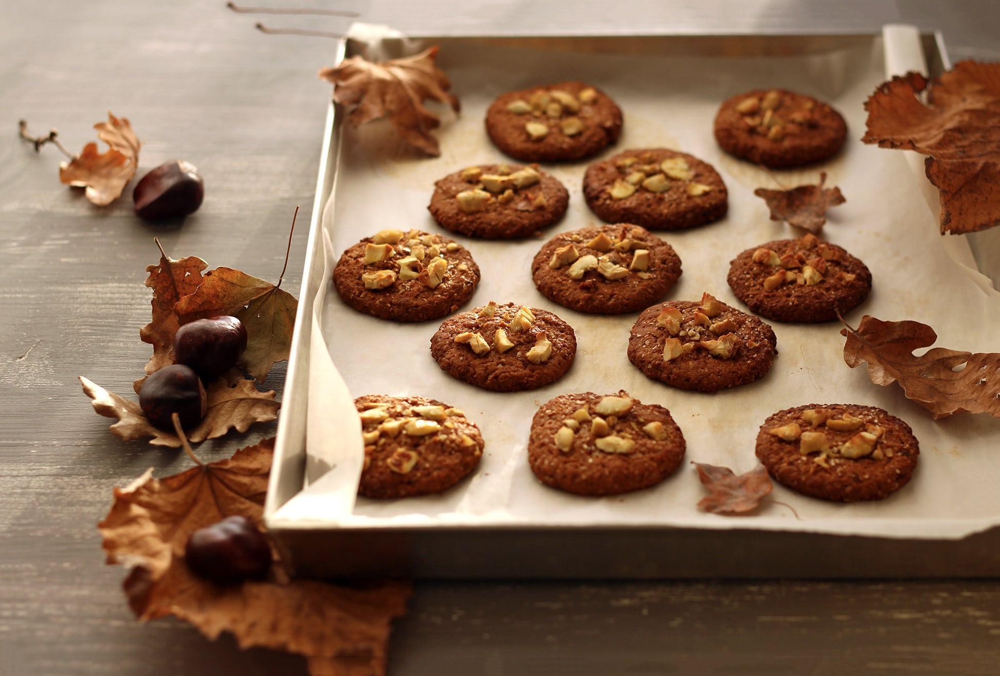 Cookies vegan alle castagne