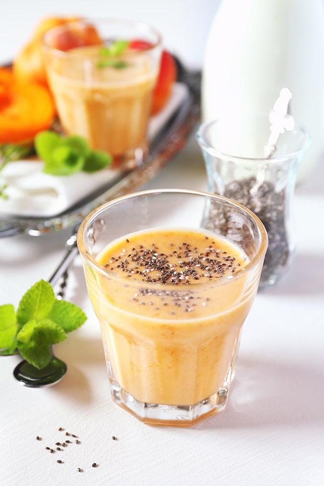Succo d'arancia con semi di chia