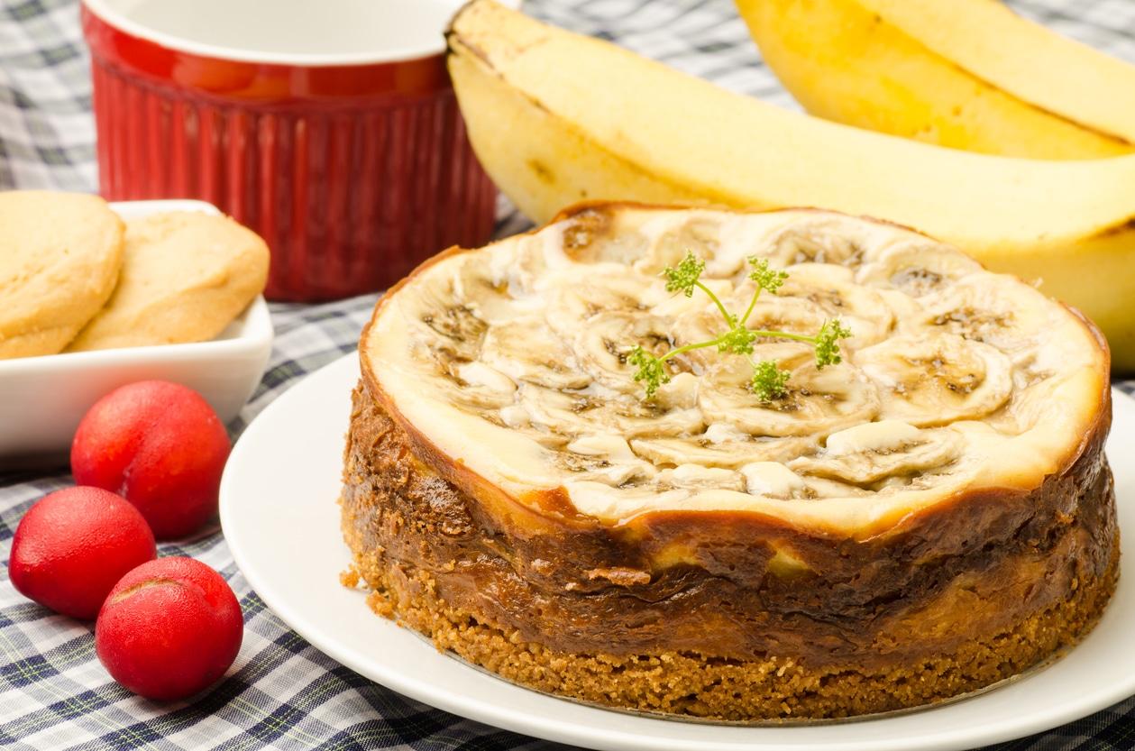 Torta di ricotta con banana senza uova - Vallé Italia
