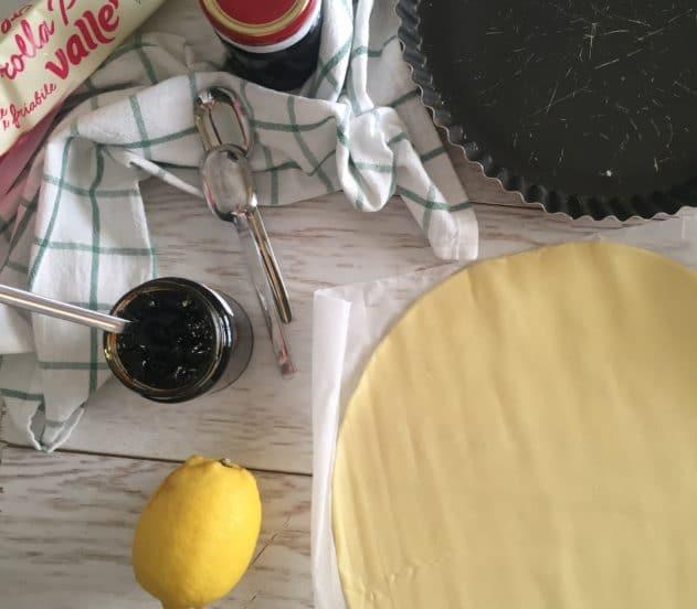 Crostata di marmellata di ciliegie e limone 1