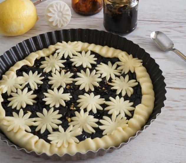 Crostata di marmellata di ciliegie e limone 5