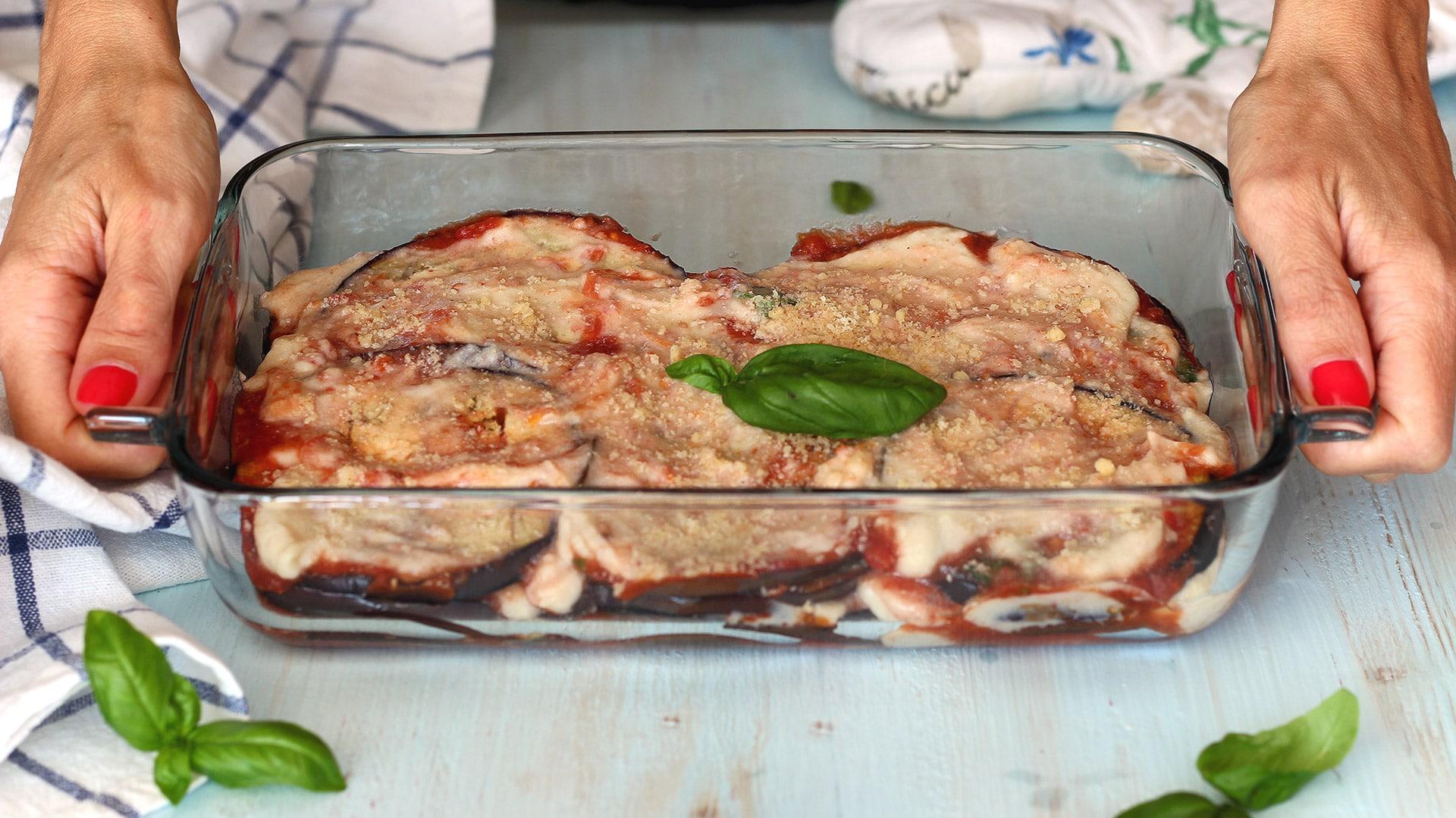Parmigiana vegana di melanzane