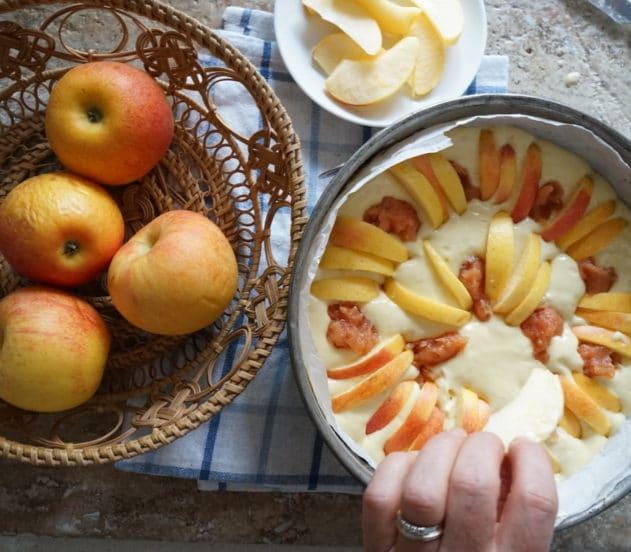 Torta di mele e marmellata di mele cotogne 5