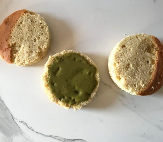 Torta Vallé ripieno pistacchio