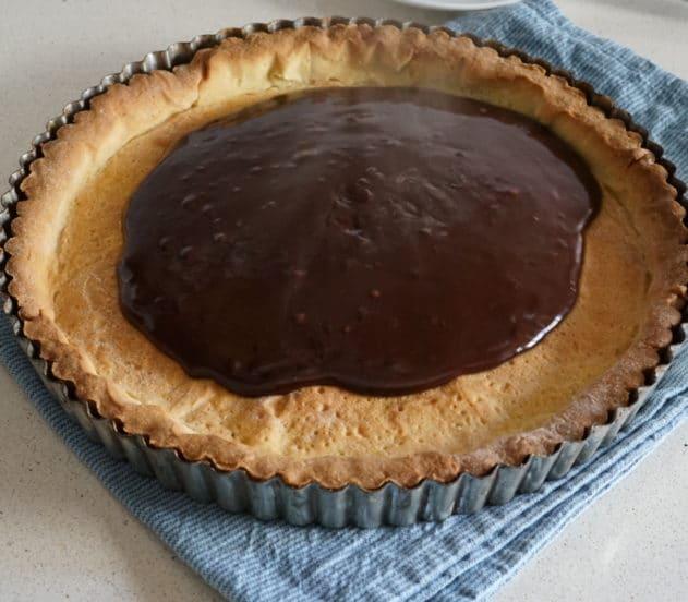 crostata cioccolato arancia con alberelli 12