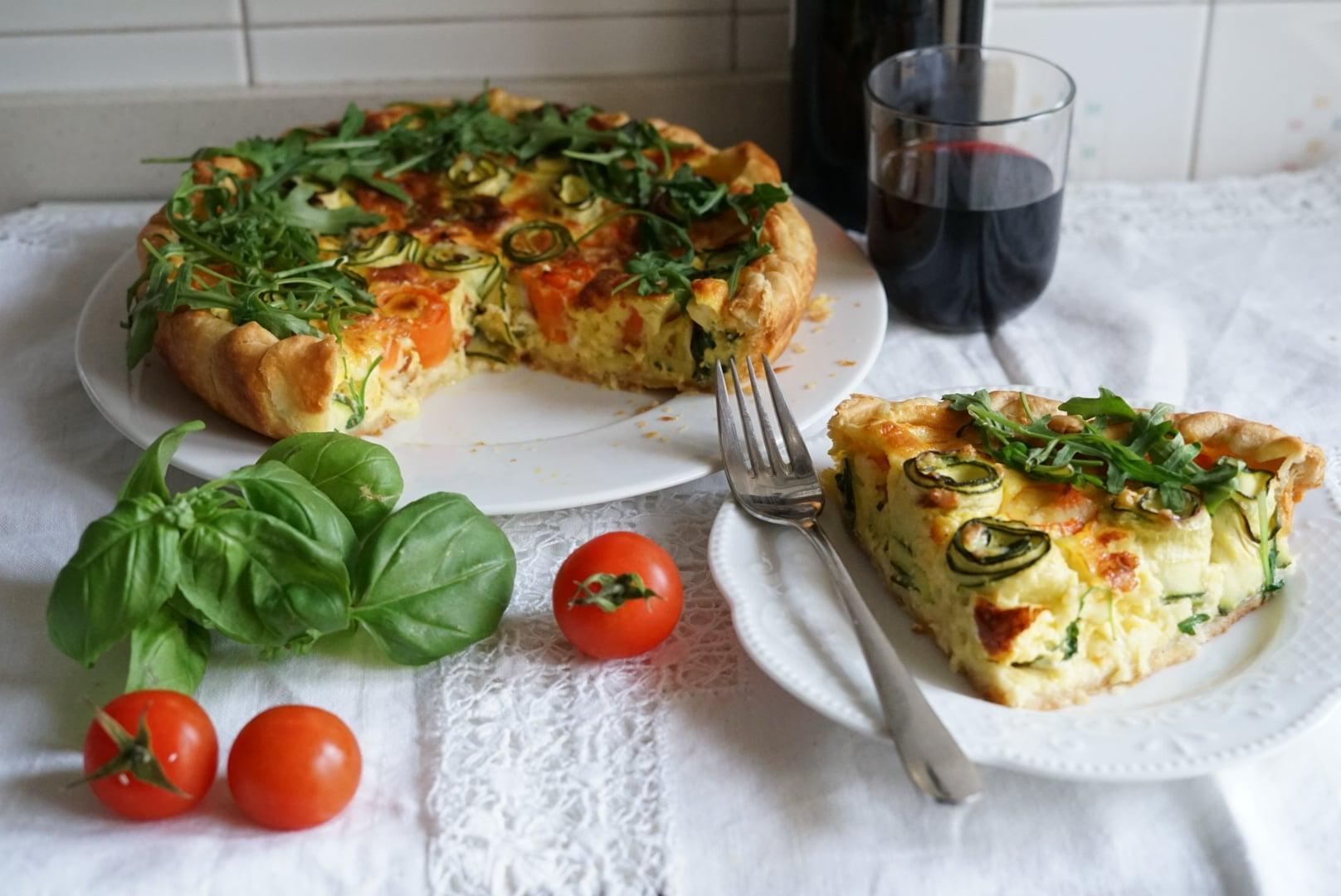 Quiche con zucchine e carote