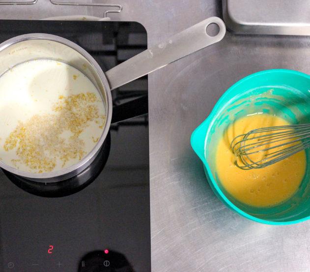 Girelle di sfoglia con crema e uvetta - crema 1