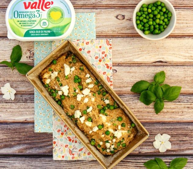 Plumcake salato ai piselli con pomodorini confit e basilico 4