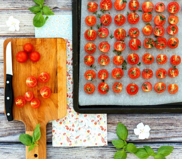 Plumcake salato ai piselli con pomodorini confit e basilico 5