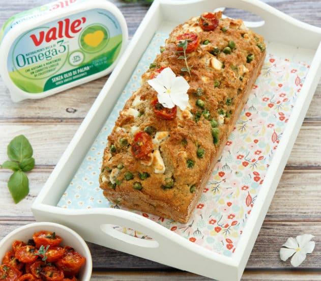 Plumcake salato ai piselli con pomodorini confit e basilico 9