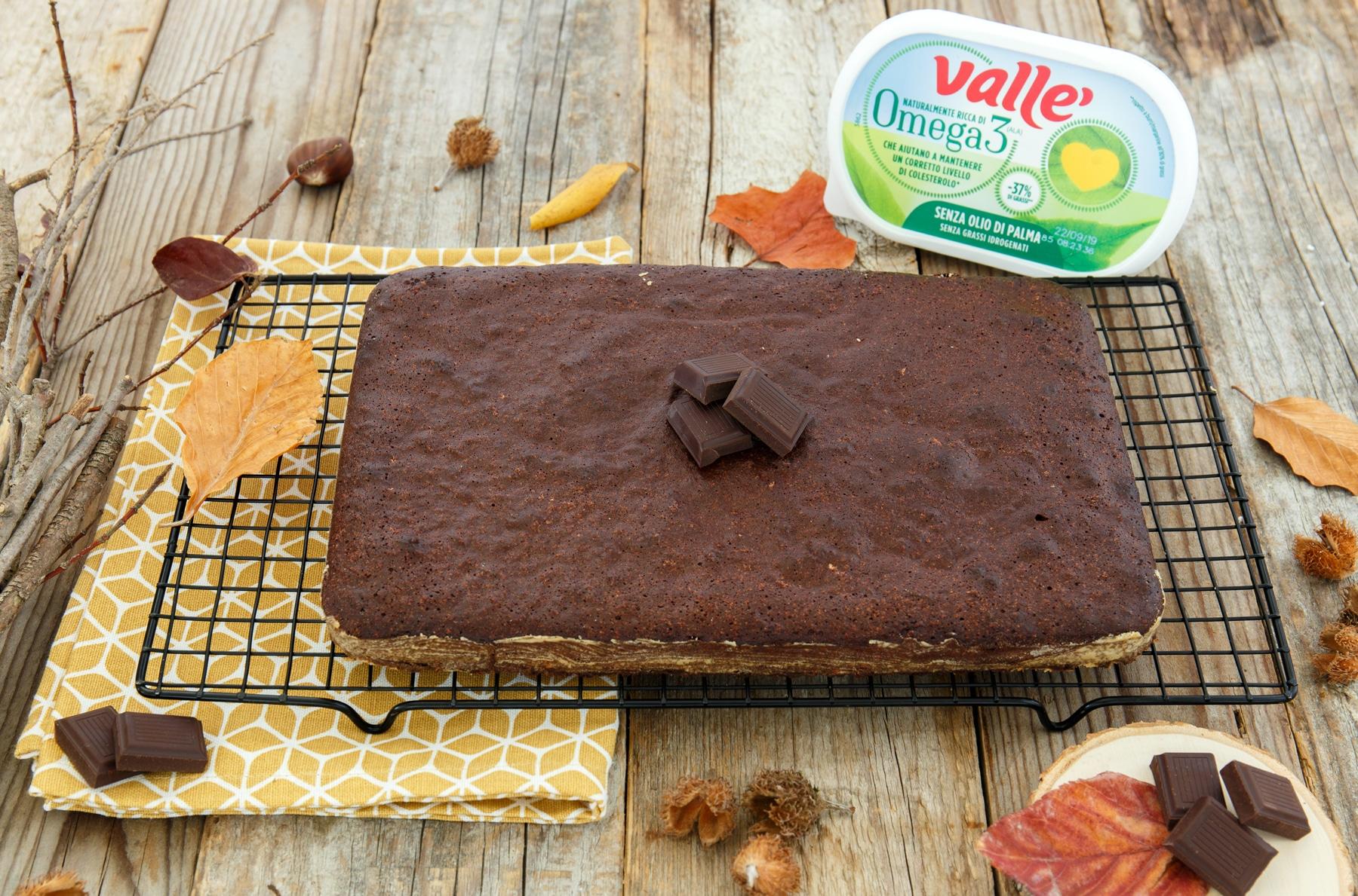 Torta bassa al cioccolato 75%