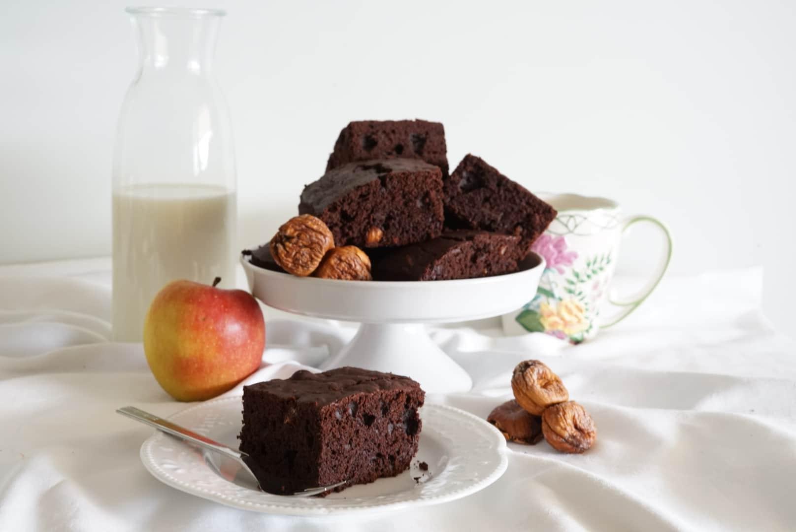 Brownies cioccolato noci e fichi secchi