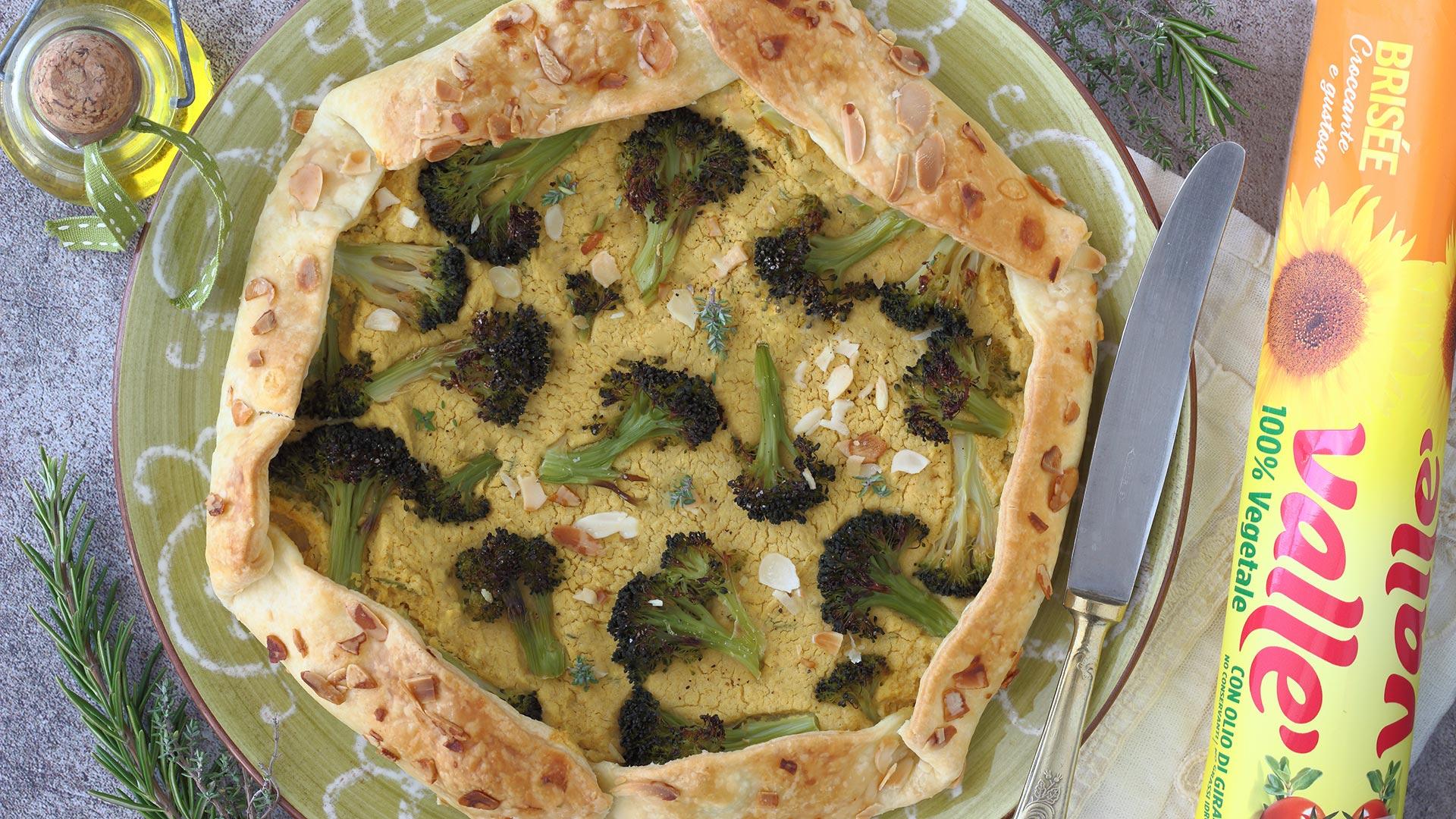 Galette salata di ceci e broccoletti