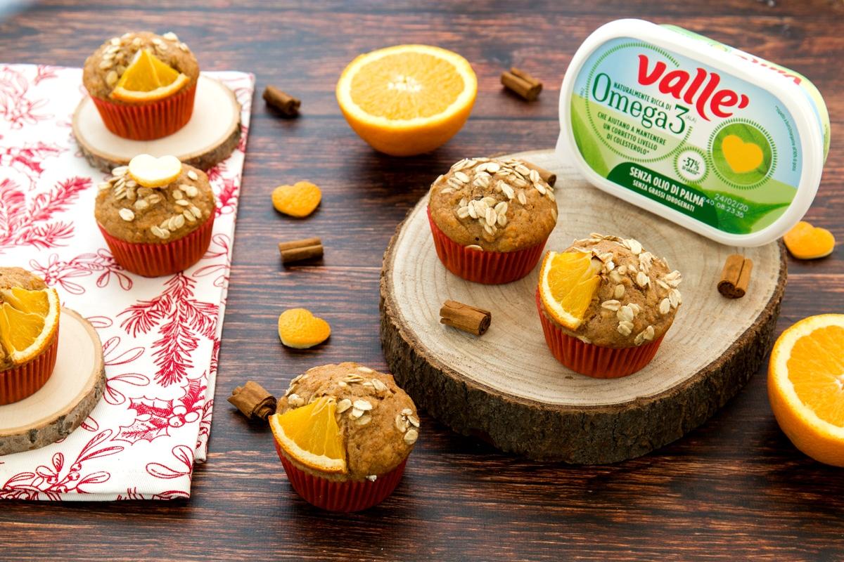 Muffin arance e cannella