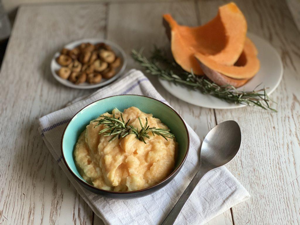 Purè di patate e zucca al profumo di rosmarino