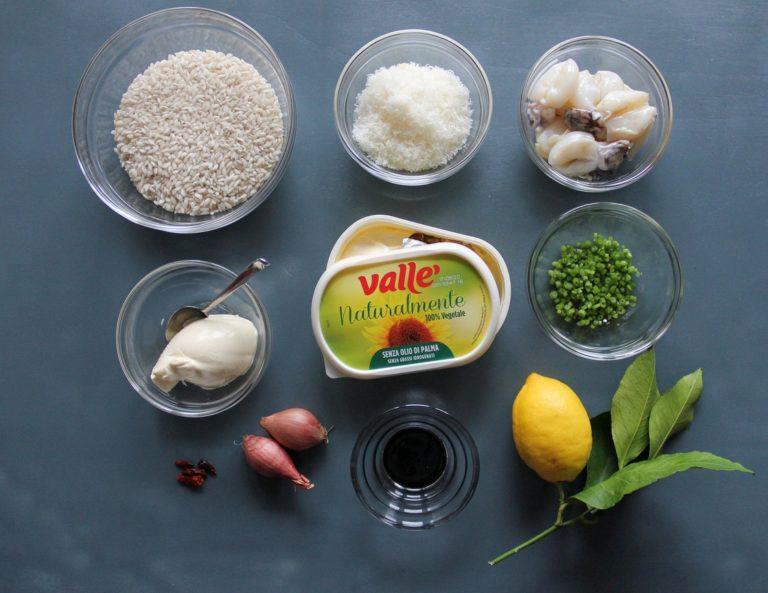 Risotto al nero di seppia, prezzemolo e limone - Ingredienti
