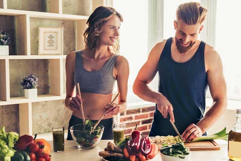coppia che cucina fibre