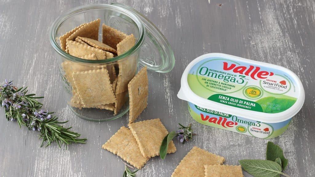 Crackers senza glutine alle erbe aromatiche