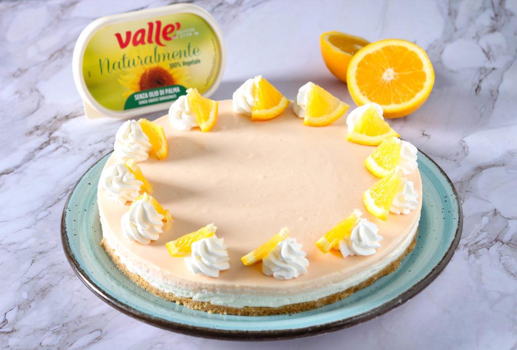 Cheesecake senza cottura all'arancia