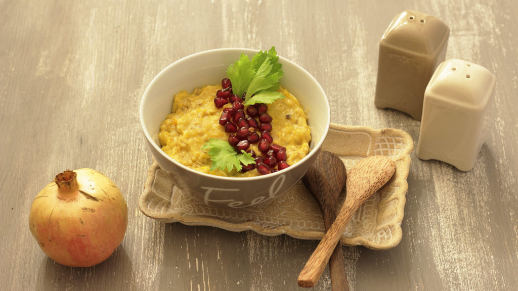 Porridge salato alla zucca