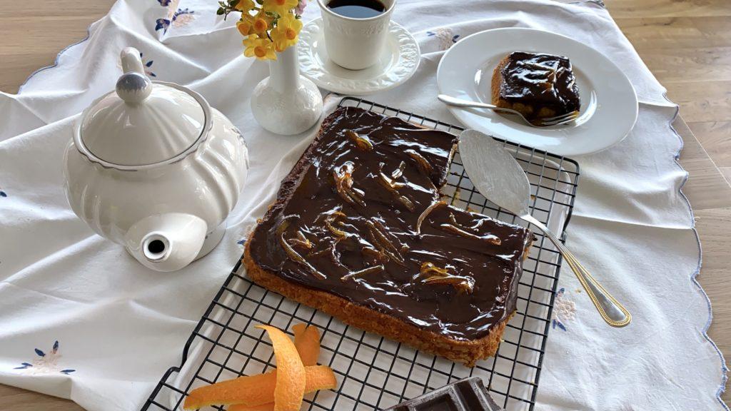 Torta di arance e cioccolato fondente (senza uova)