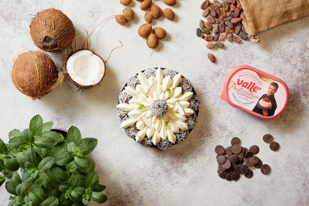 Saint-Honoré cocco e cioccolato di Damiano Carrara