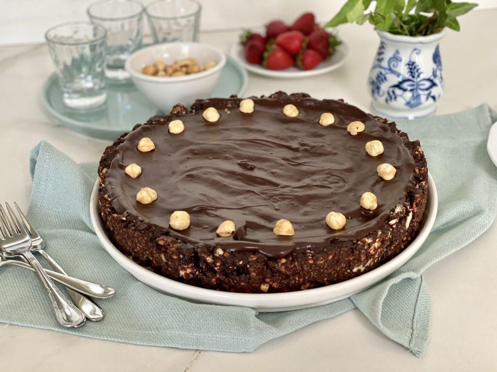 Torta biscotto senza cottura cioccolato e rum