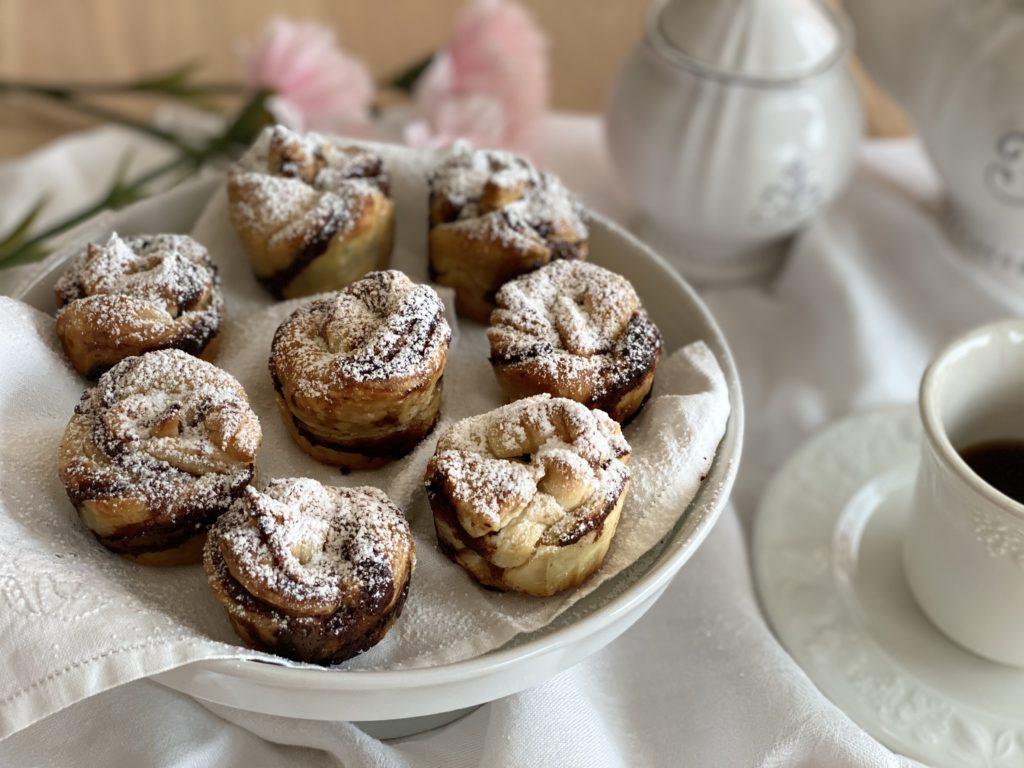 Muffin di sfoglia al cioccolato