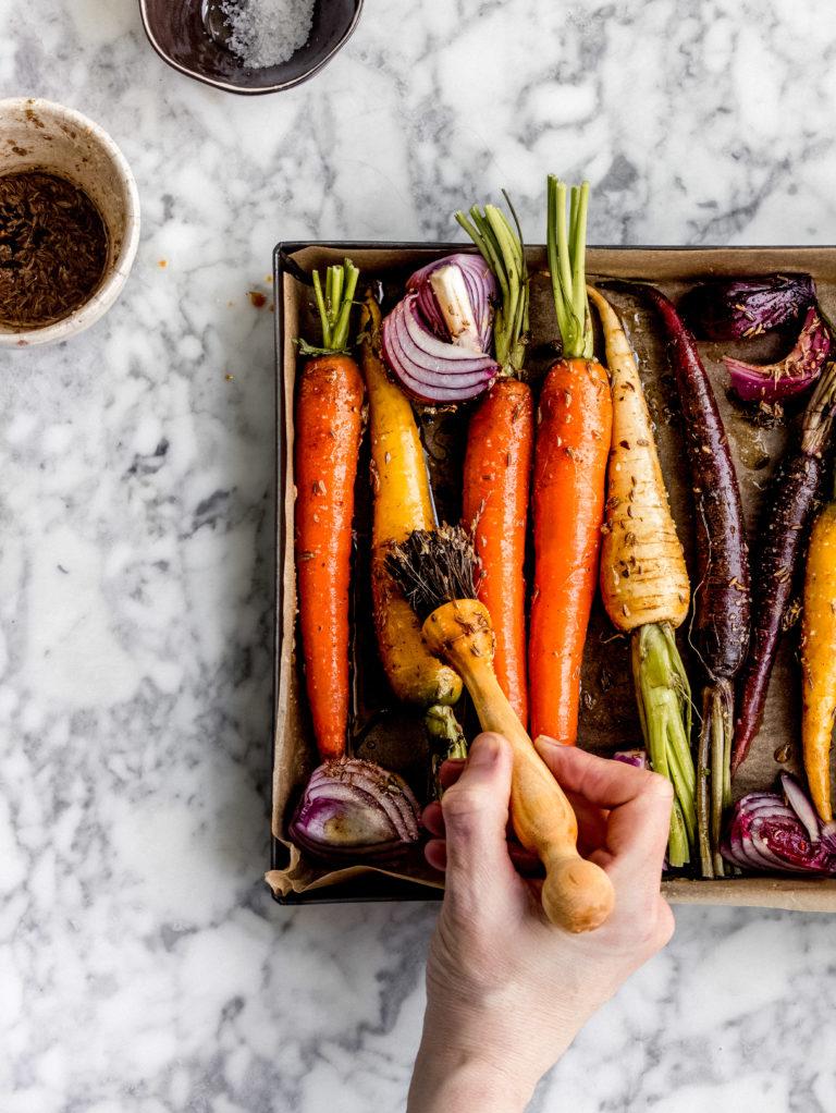 cuocere le carote colorate